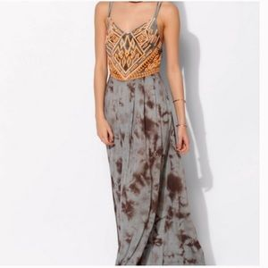 Ecotè TieDye Orange & Gray Maxi Dress - NEVER WORN
